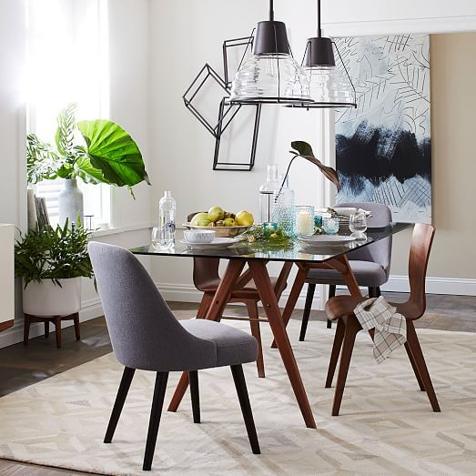 Jensen Table Bom GlassWalnut At West Elm Dining Tables - West elm jensen dining table