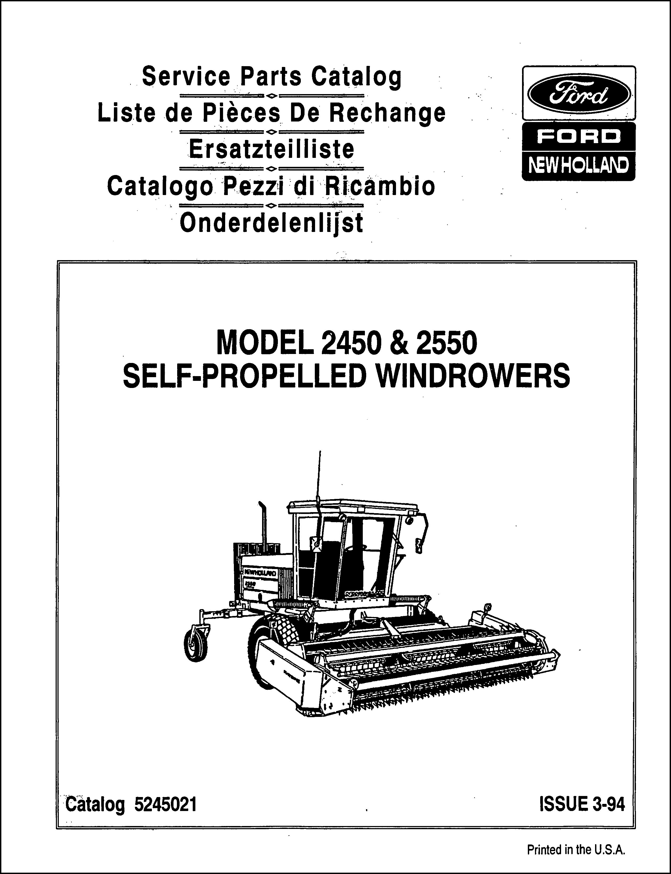Ford New Holland Parts Manual For Service