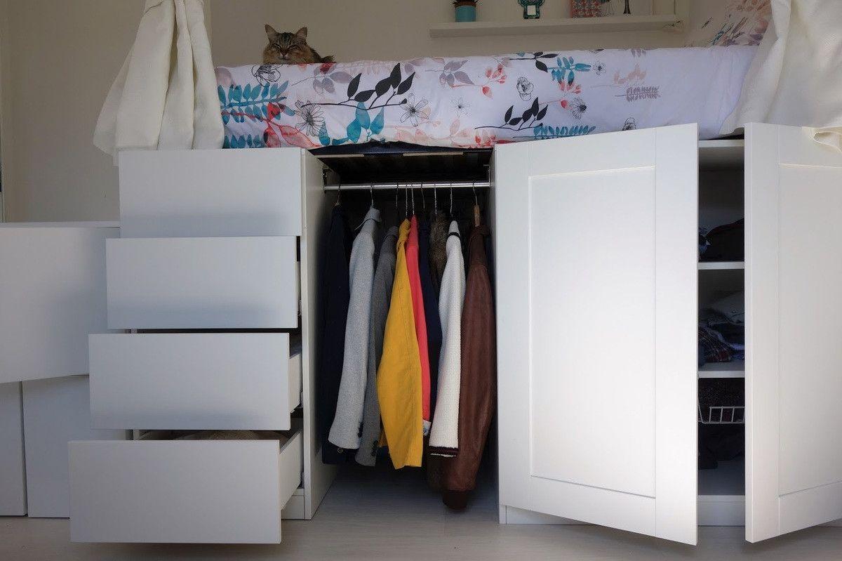 Dressing Gain De Place Platzsparende Mobel Hochbett Zimmer