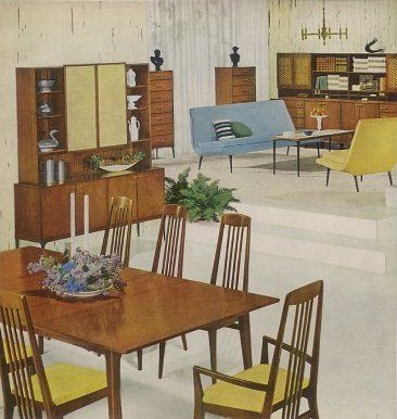 Retro dining room furniture 1959 Heywood Wakefield Danish Modern