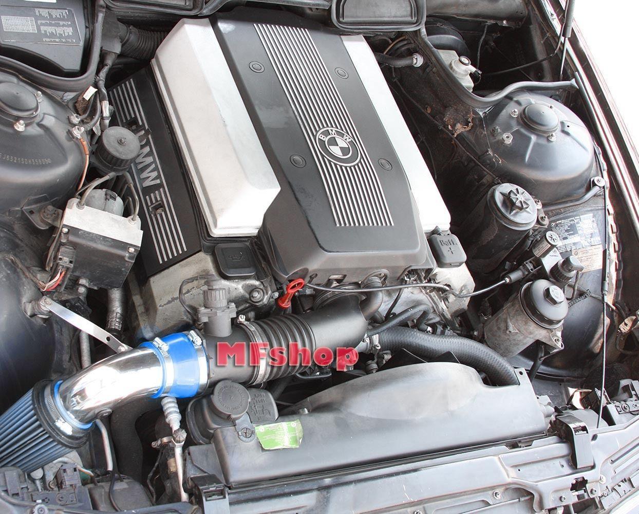 Blue For 1993 2001 Bmw 740 740i 740il M60 M62 E38 Air Intake Kit Filter Bmw 740 Bmw K N