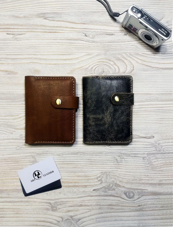 fd225cac8986 Купить Кожаная обложка для паспорта, докхолдер Gelbfi в интернет магазине  на Ярмарке Мастеров