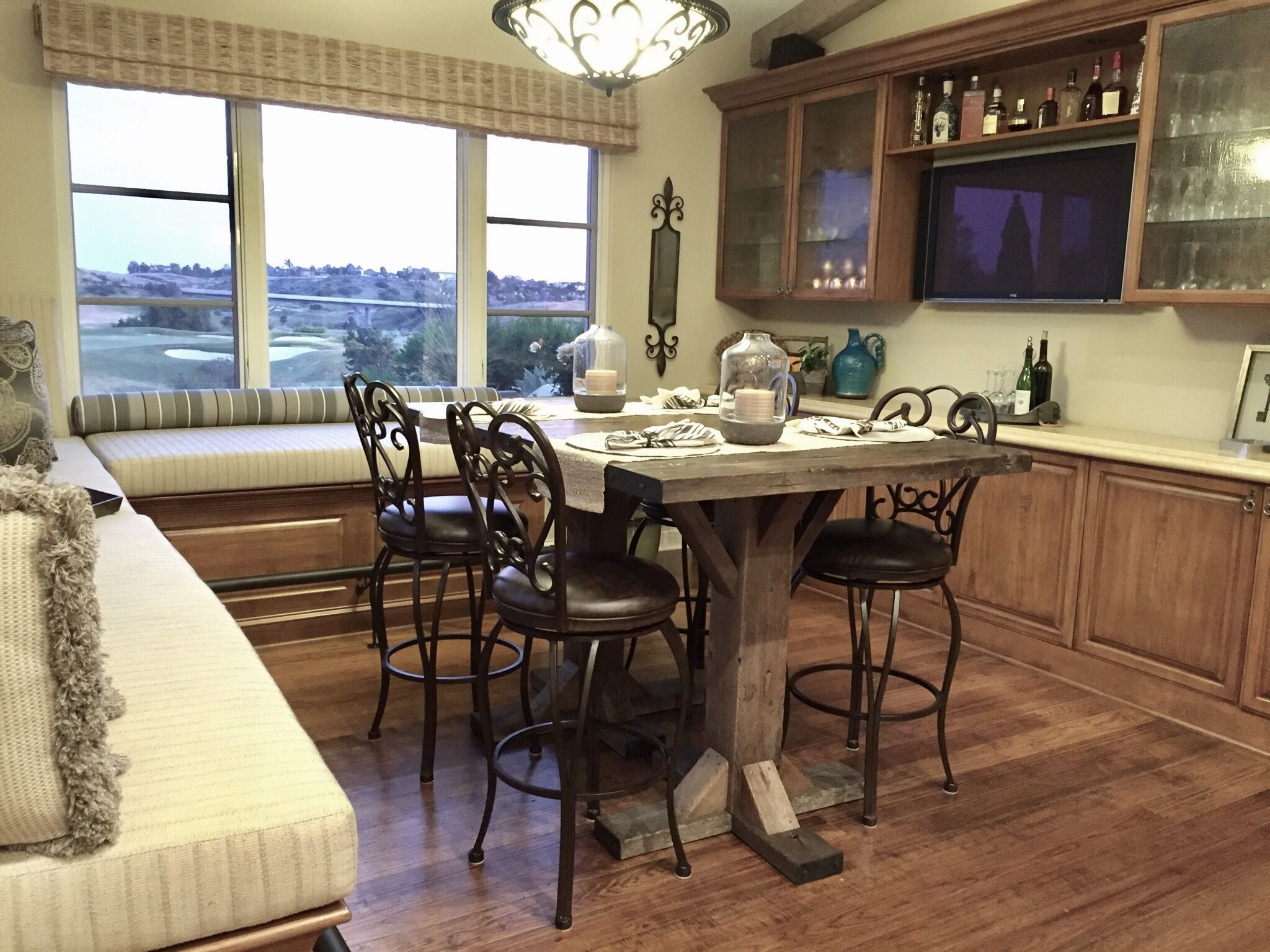 Breakfast Nook, Bar, Reclaimed Wood Tables, Bar Stools, Design Ideas, Home