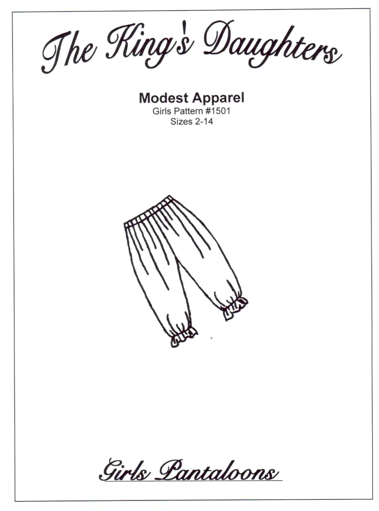 Bloomers Pantaloons Modest Amp Simple Sewing Patterns By