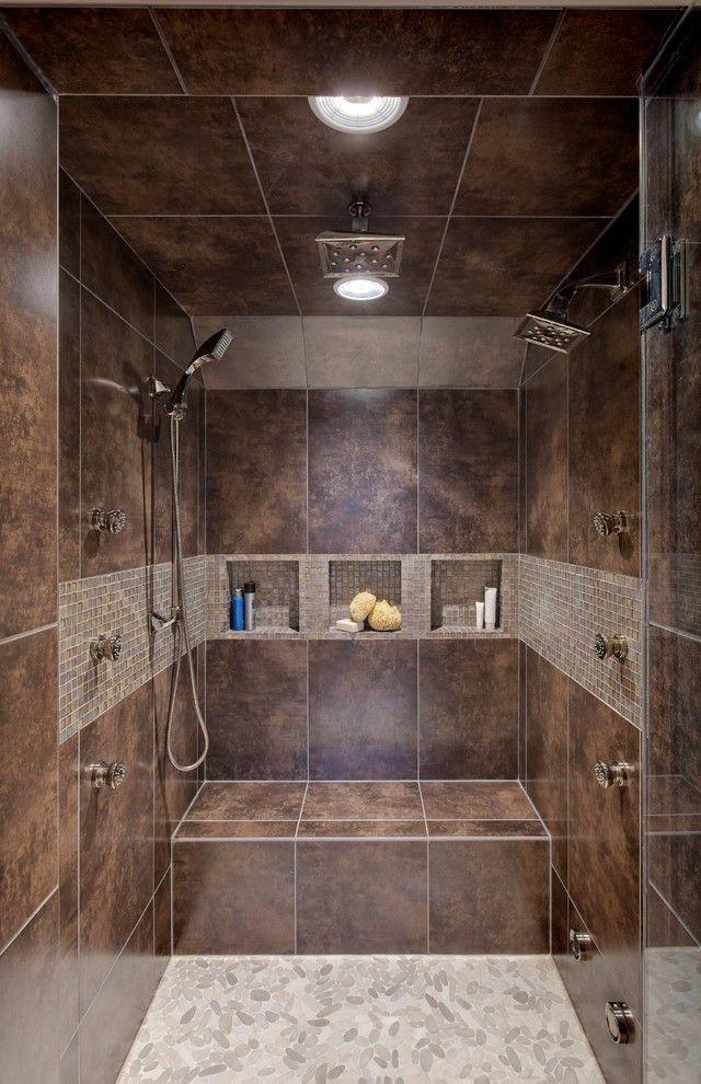 Corner Bathtub Shower Bathroom Modern with Walk in Contemporary ...