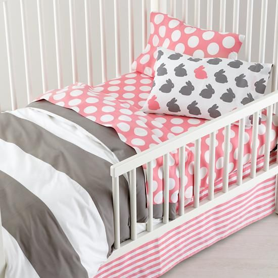 Girls Bedding Grey Pink Toddler Bedding In Toddler Bedding The