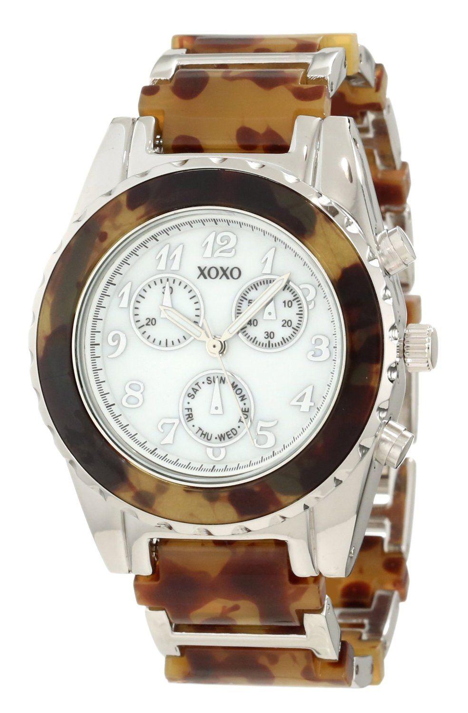 669ee1ab3b9f XOXO Women s XO5438 Tortoise Analog Bracelet with Tortoise Bezel Watch