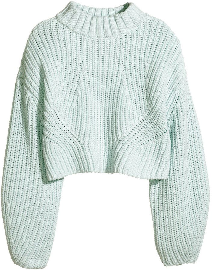 25b0eb14ec1 H&M Cropped Sweater - Mint | #Chic Only #Glamour Always | Chic Only ...