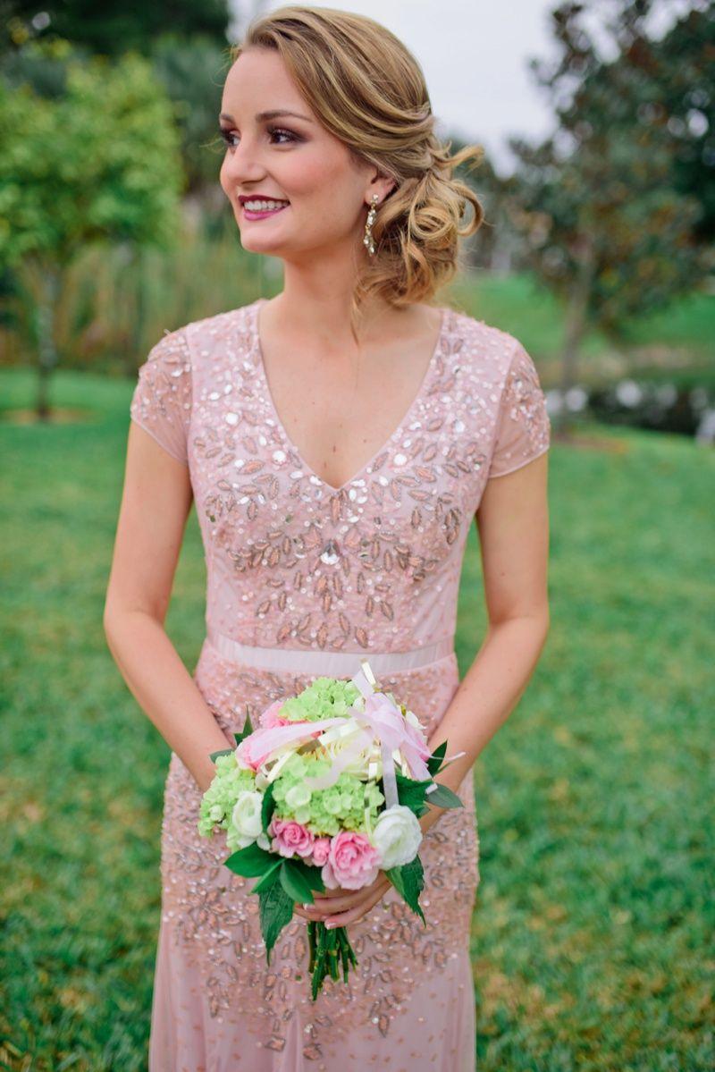 A Vintage Glam New Year's Eve Wedding Wedding bridesmaid