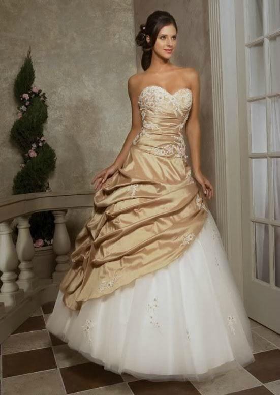 Robe de mariee dentelle doree | Robe soiré