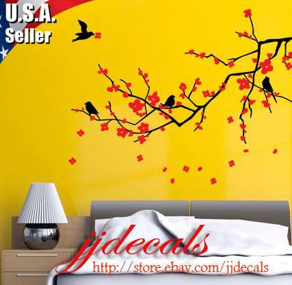 And again, wall decal branches.  I am in love with this idea.