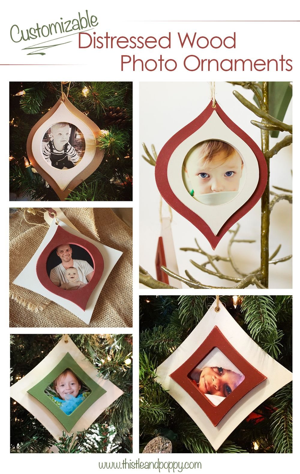 Rustic Wood Picture Frame Ornaments Christmasdecor Picture Frame Ornaments Christmas Picture Frames Photo Ornaments
