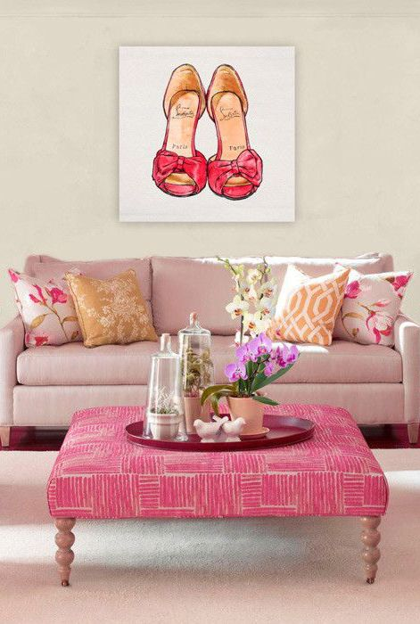 home inspiration {pink + gold rooms} | Pumps, Interior decorating ...