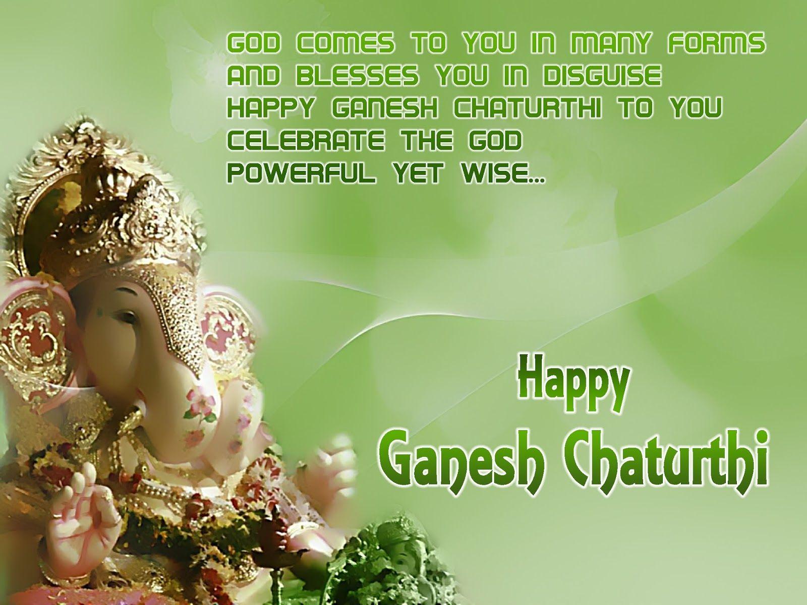Ganesha Chaturthi Greetings Cards Desktop Walls God Ganesh
