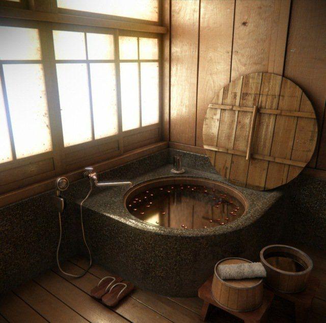 comment concevoir une salle de bain japonaise ? - Salle De Bain Japonaise Traditionnelle