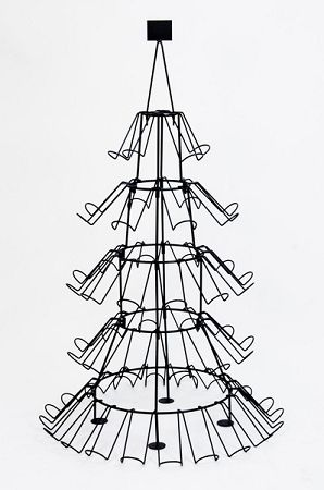 each wine bottle has a story sign christmas tree wine bottle or shoe display rack 3912