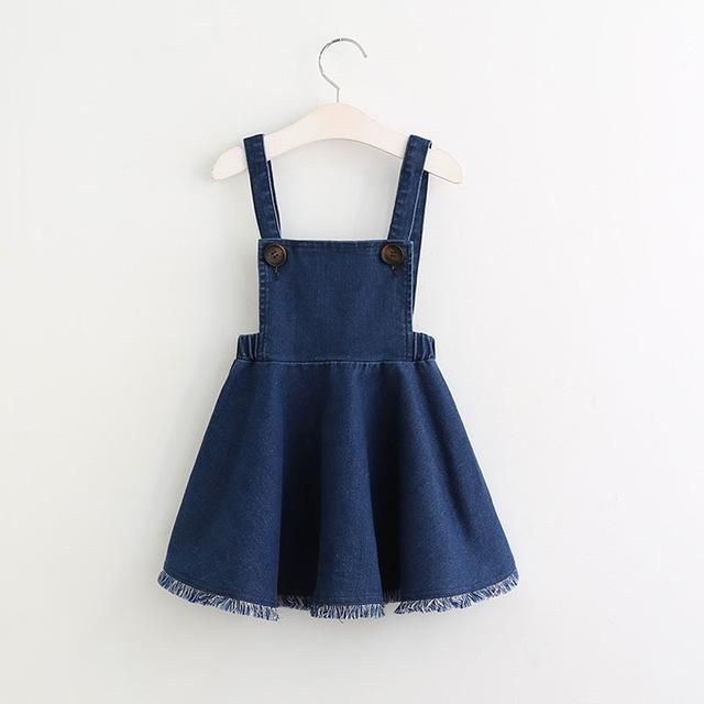 fc6c76da Girls Denim Dress Summer Clothing Spring Casual Dress Kids Clothes Princess Dress  Girls Clothes