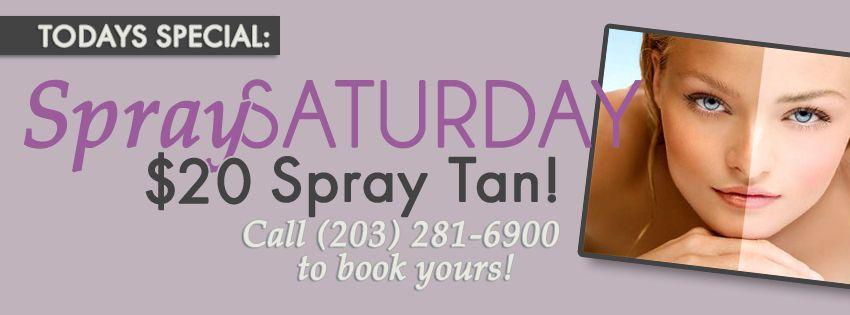 Spray Saturday! $20 Spray Tans ALL DAY!