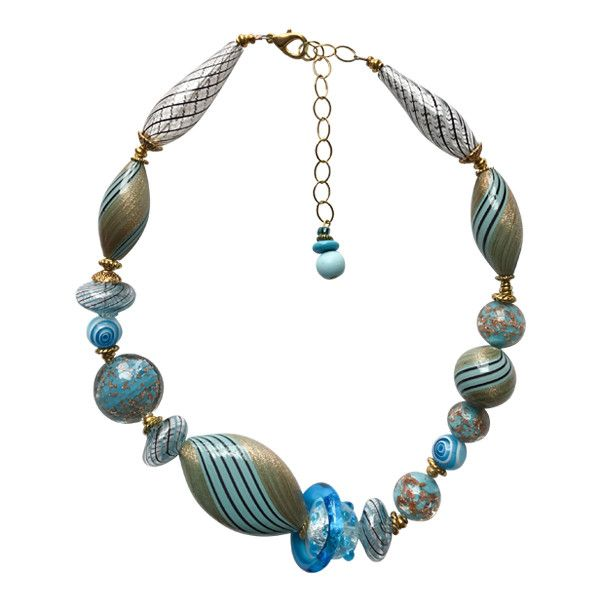Teal Murano Glass Necklace