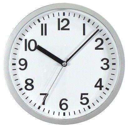 3 Wall Clock Target Silver Round Wall Clocks Wall Clock Target Wall Clock