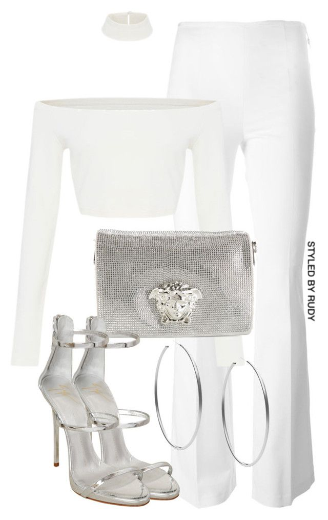 """""""Untitled #593"""" by styledbyrudy ❤ liked on Polyvore featuring Moncler, Michael Kors, Versace and Giuseppe Zanotti"""