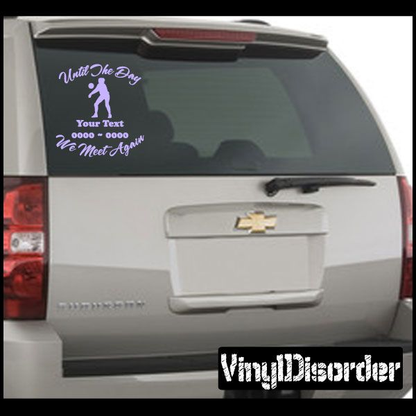 Volleyball 02 in loving memory custom car or wall vinyl decal stickers