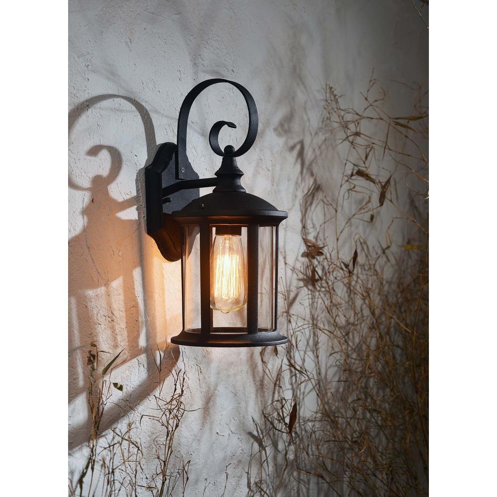 Kenroy Home Leo 1 Light Black Outdoor Lantern Outdoor