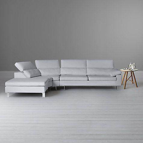 John Lewis Baccara Lhf Semi Aniline Leather Large Corner Sofa Nature Putty Leather Corner Sofa Corner Sofa Sofa