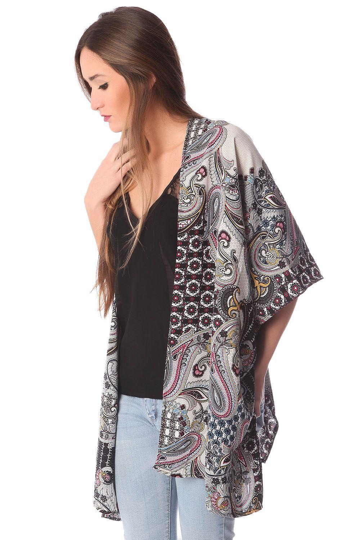 Kimono estampado cachemir de Q2