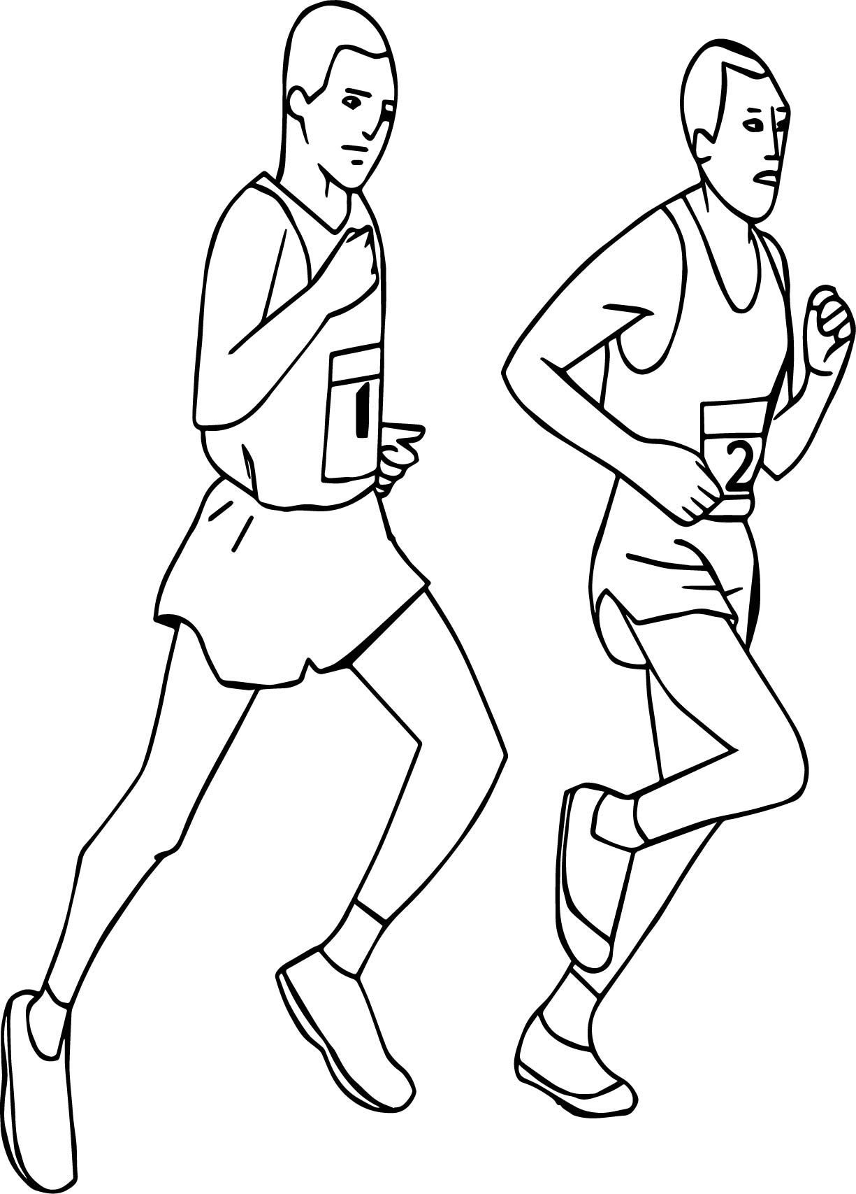 Awesome Running Sports Man Coloring Page Sports Coloring Pages Coloring Pages Football Coloring Pages