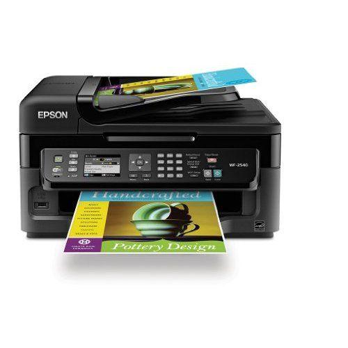 Epson Workforce Wf 2540 Wireless All In One Color Inkjet Printer Copier Scanner Adf Fax Prints Fr Multifunction Printer Color Inkjet Printer Inkjet Printer