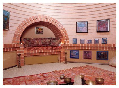 German earth house - dome room