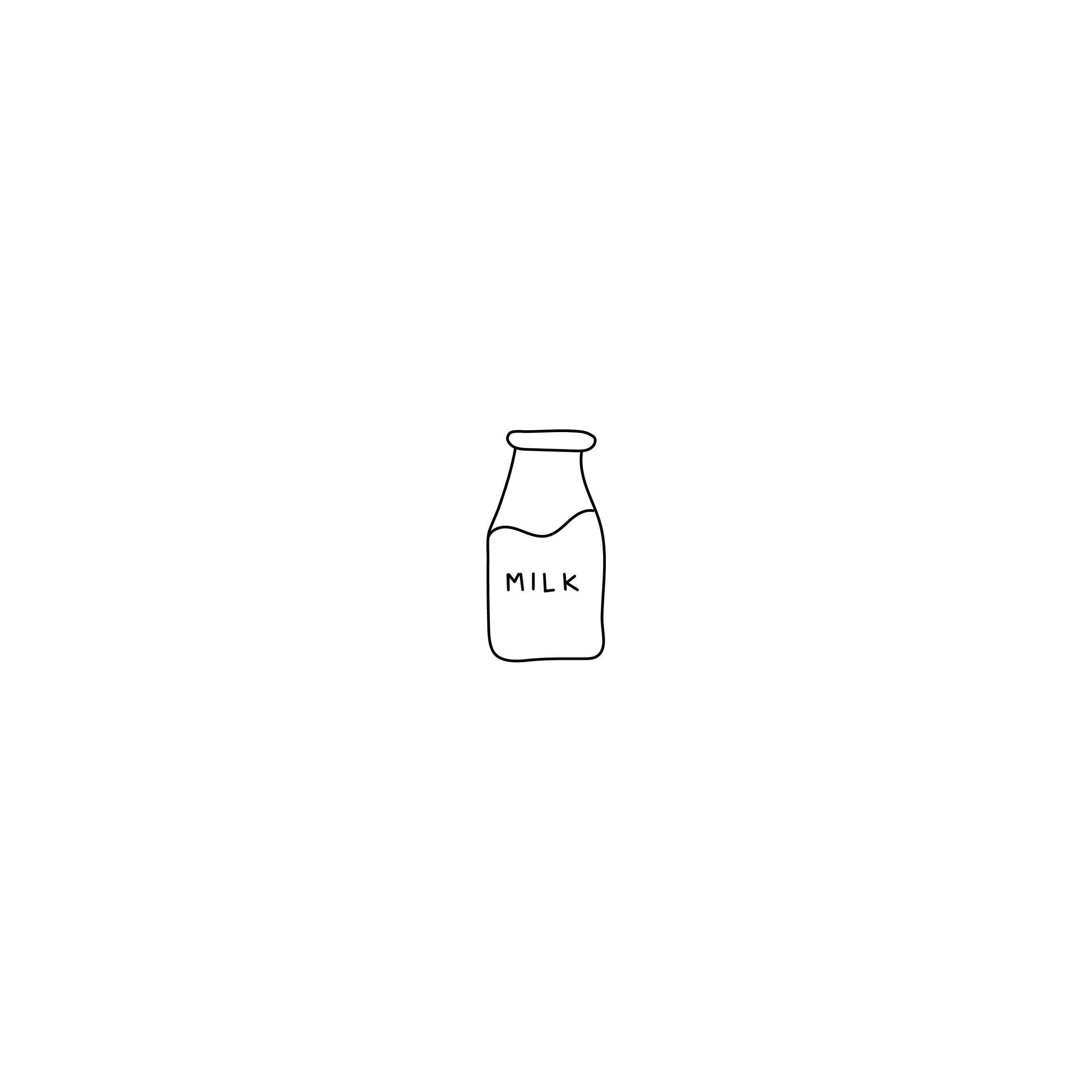 Milk Dairy Illustration Drawing Doodle Design Logos Premade Logo