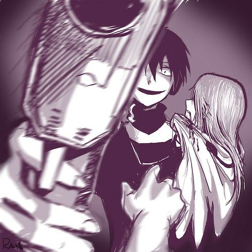 (Heat Haze, Outer Science)  These Kuroha pictures are getting so dang creepy, I mean, people, we've FOUND the anime version of JEFF THE KILLER.