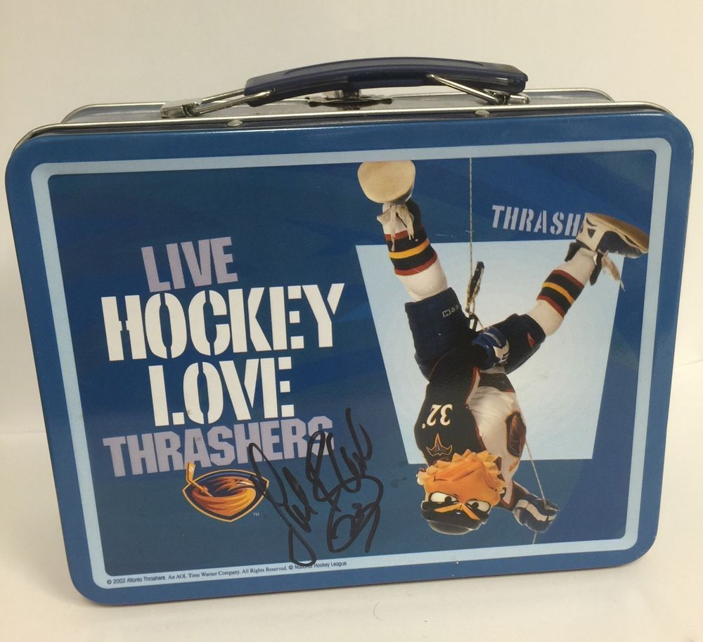 Atlanta Thrashers Lunch Box from 2002 NHL Lubos Bartecko Autograph 23 Signed | eBay