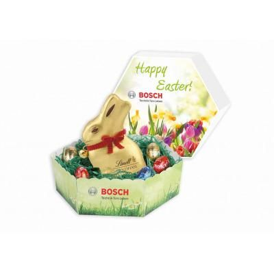 Image of hexagonal easter lidded gift box with lindt bunny and image of hexagonal easter lidded gift box with lindt bunny and mini eggs negle Gallery