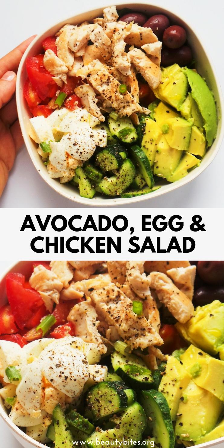 Healthy Avocado Chicken Salad Recipe Low Carb Meal Prep Option