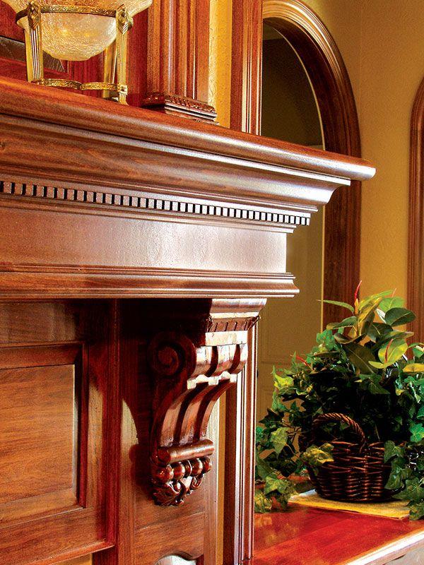 design gallery fireplace mantels crown moulding base boards rh pinterest com Fireplace Mantel Trim Molding Molding Fireplace Wood