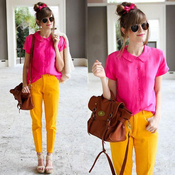 57e56f2cf81 Hot pink and mustard yellow