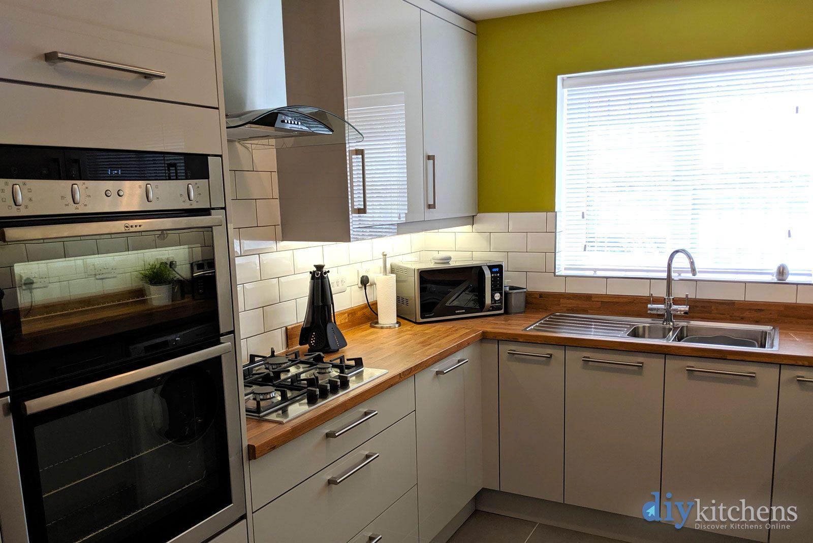 An Innova Altino Light Grey High Gloss Kitchen | Cheap ...