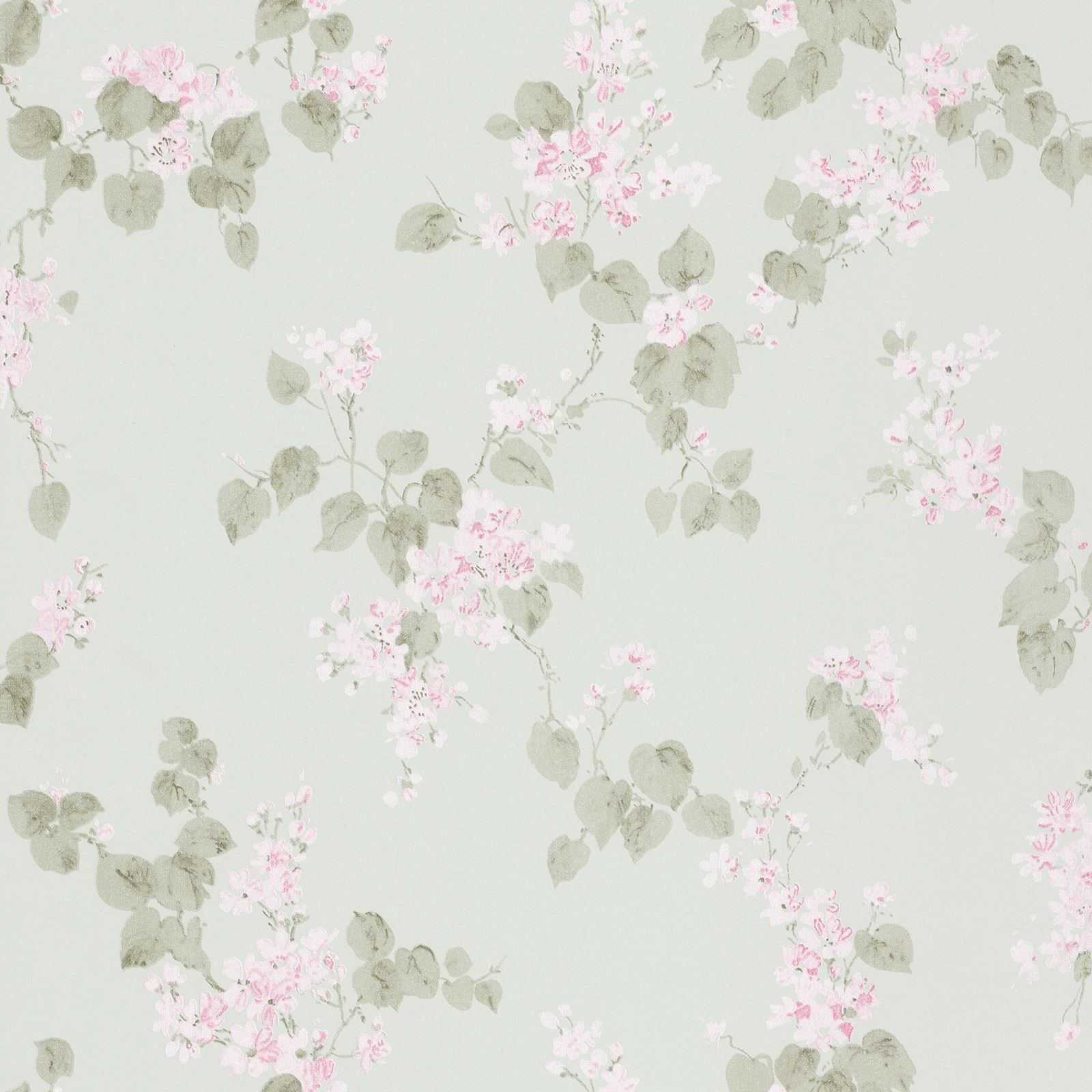 Details About Rasch Emilia Blossom Floral Wallpaper Metallic
