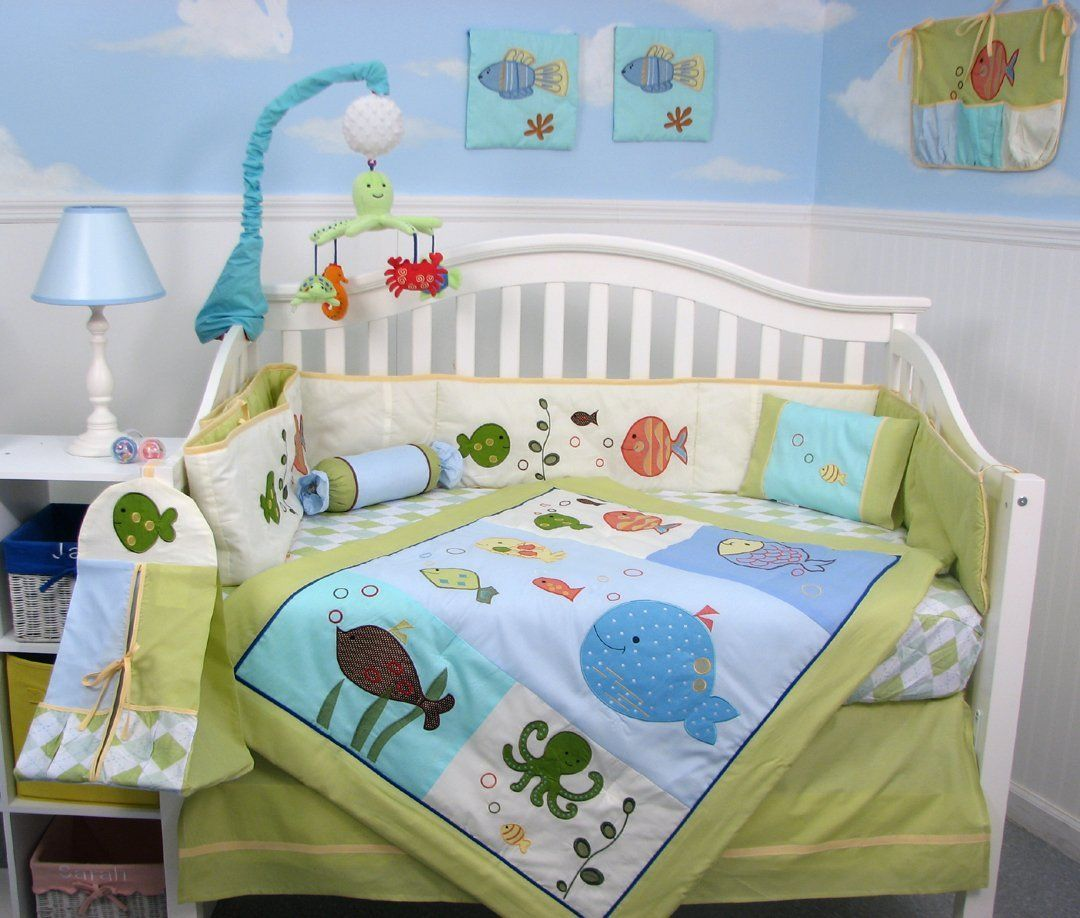Baby boy bedding sets - Lambs And Ivy Under The Sea Baby Bedding Set