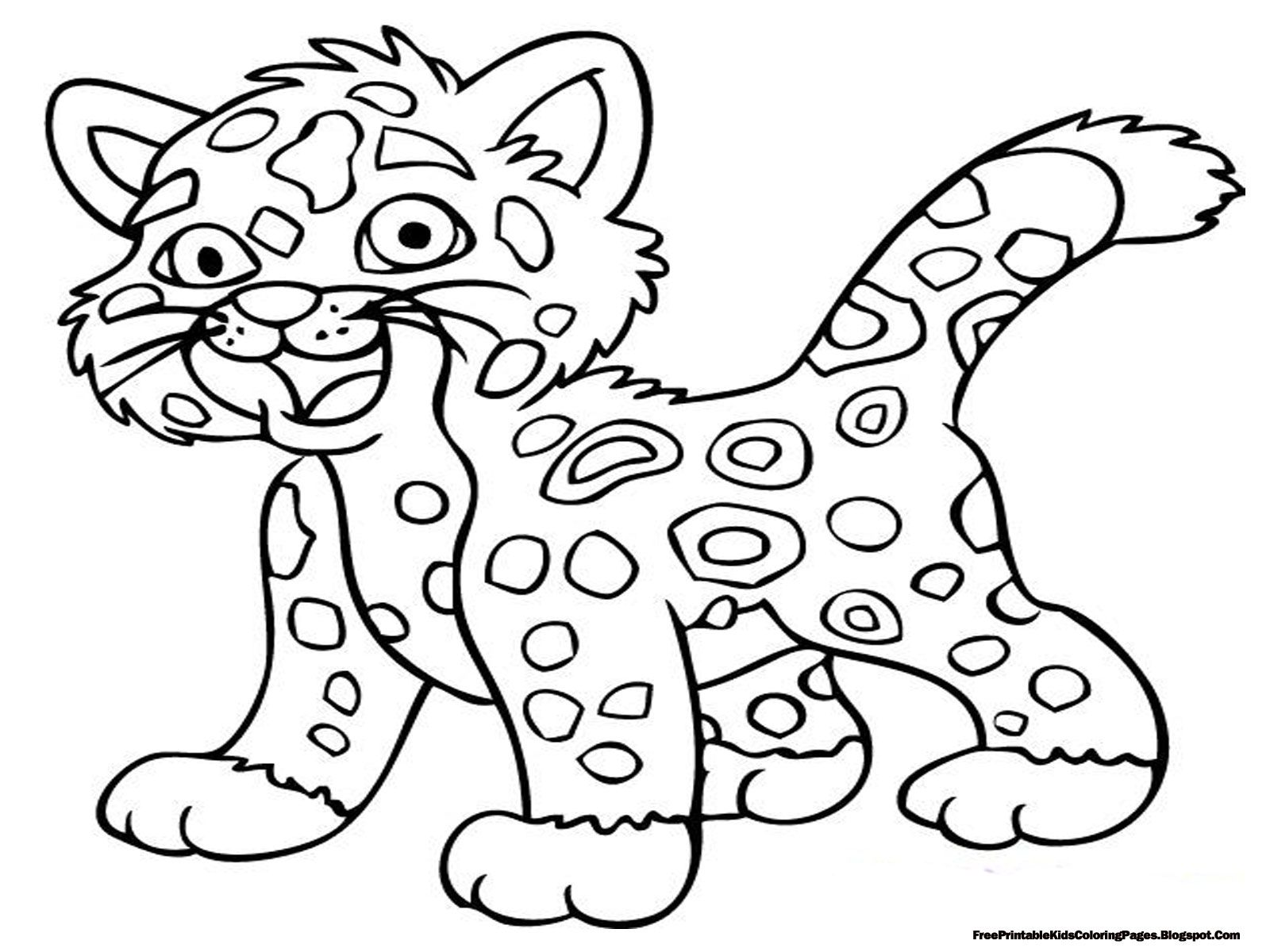 Jaguar Coloring Pages Free Printable Kids Coloring Pages Coloring ...