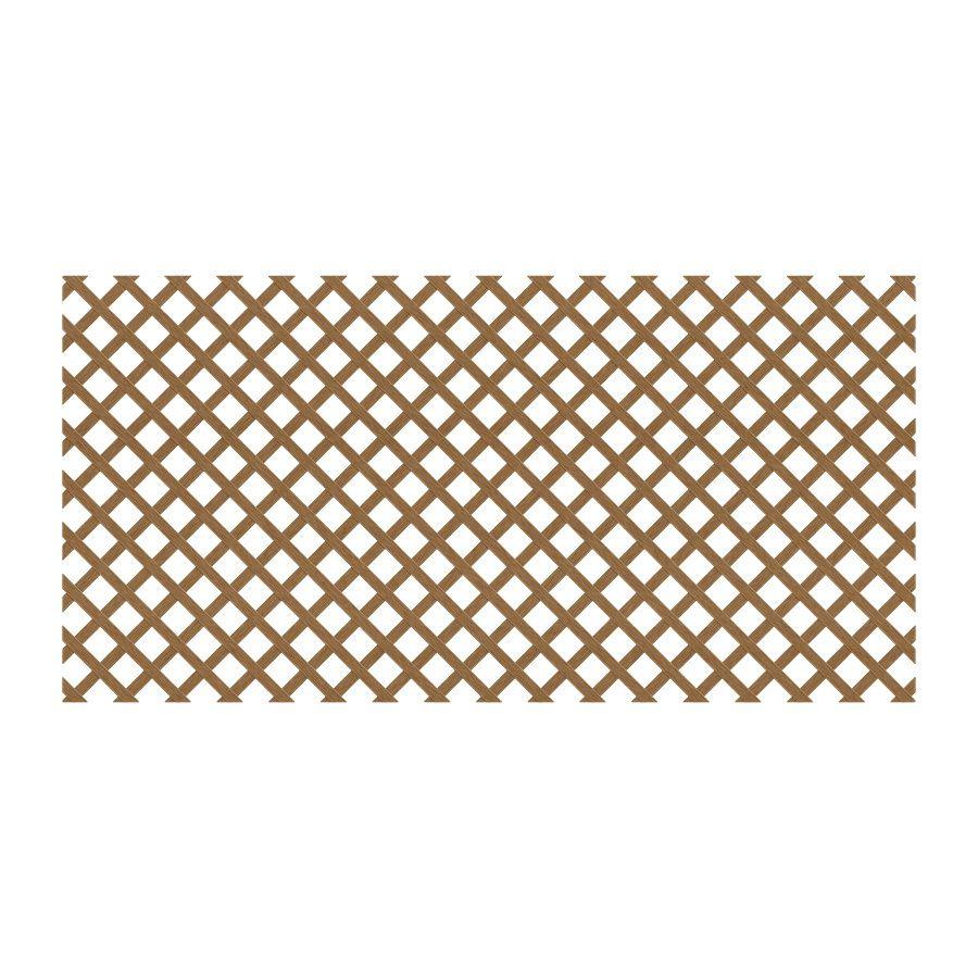 Deckorators Common X 48 In X 8 Ft Actual 0 125 In X 47 5 In X 7 91 Ft Cedar Redwood Plastic Traditional Lattice Lowes Com In 2020 Decorative Screen Panels Plastic Lattice Deckorators