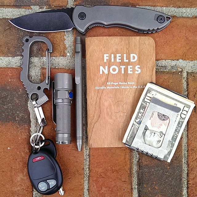 EDC w TiClick Classic Pen + ITS Tactical Field Notes edc - field note