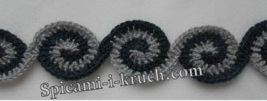 Crochet Spiral Garland - Chart ❥ 4U // hf scarf idea?