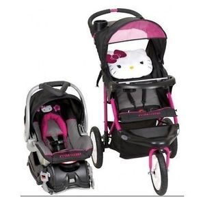 1b6d3f595e7f Hello Kitty Jogging stroller with the car set pram. So cute ...