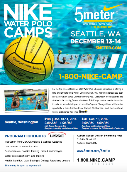 nike 5 meter water polo camp