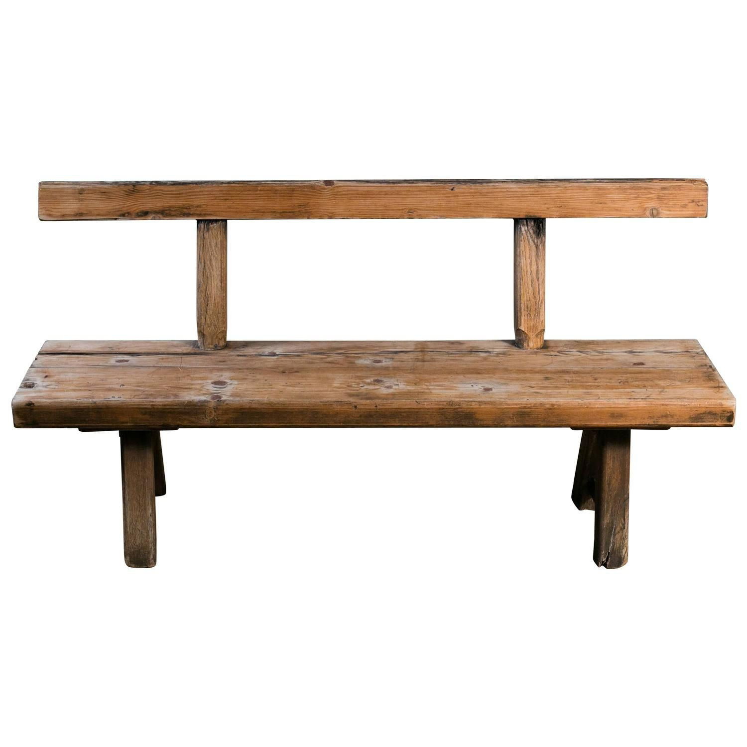 Enjoyable Long Primitive Wooden Bench With Back My 1Stdibs Favorites Lamtechconsult Wood Chair Design Ideas Lamtechconsultcom