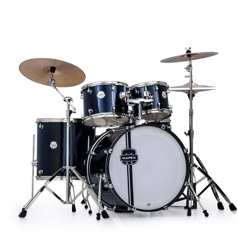 Mapex Voyager Vr5254t Acoustic Drum Set Royal Blue Drums Drums
